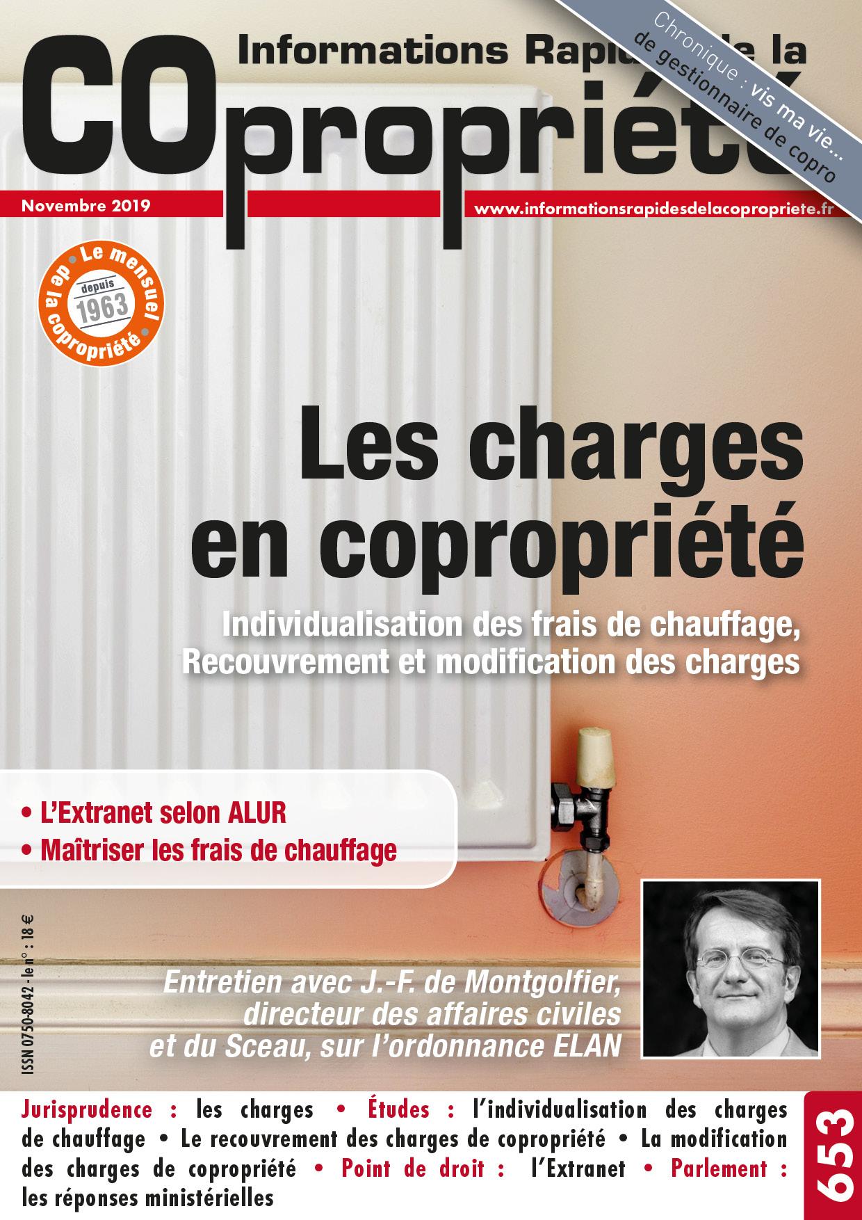 IRC n°653 - les charges de copropriété