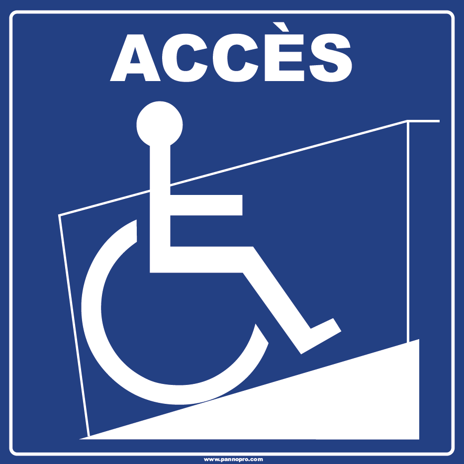 signalétique handicap