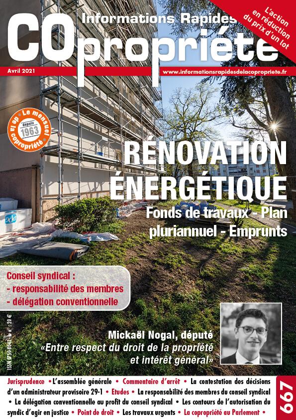 Copropriété rénovation énergétique