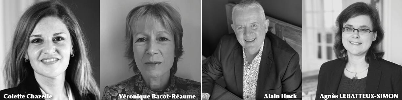 Colette Chazelle, Véronique Bacot-Réaume, Alain Huck et Agnès Lebatteux-Simon