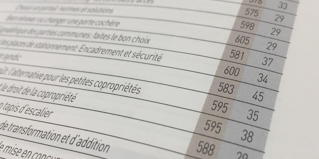 Copropriété index 2020